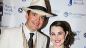 A Gentlemans Guide to Love and Murder co-stars Jefferson Mays and Lauren Worsham.