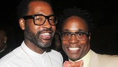 Tony-nommed costume designer ESosa with Kinky Boots Tony winner Billy Porter.