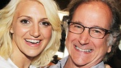 Annaleigh Ashford beams beside Mark Linn-Baker.