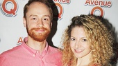 Avenue Q alum Rob Morrison with his girlfriend, actress Lauren Molina.