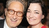 Bernard Telsey, casting director for the production, with leading lady Laura Michelle Kelly.
