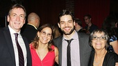 Jeremy Jordan takes a family shot with his stepdad, mom and grandmother.