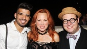 Carolee Carmello flanked by featured players Julius Anthony Rubio and Josh Lamon.