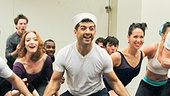 The company strikes a pose. See them in On the Town at the Lyric Theatre beginning September 20!