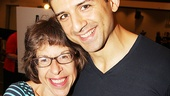Jackie Hoffman and Tony Yazbeck flash big smiles on press day.