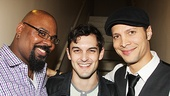 Tony-winning Aladdin star James Monroe Iglehart, Smash and Broadway alum Wesley Taylor and host Justin Guarini hang out.