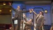 Peter Gallagher as Oscar Jaffee, Michael McGrath as Owen O'Malley and Mark Linn-Baker as Oliver Webb in On the Twentieth Century