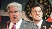John Treacy Egan as Newt Gingrich & Kevin Zak as Kenneth Starr in Clinton the Musical