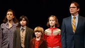 Judy Kuhn as Helen, Oscar Williams as Christian, Zell Steele Morrow as John, Sydney Lucas as Alison & Michael Cerveris as Bruce Bechdel in Fun Home