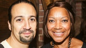 Hamilton - backstage - 8/15 - Lin-Manuel Miranda and Grace Hightower