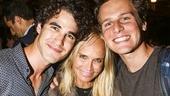 Hamilton - backstage - 8/15 - Darren Criss, Kristin Chenoweth and Jonathan Groff