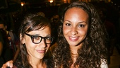 Hamilton - backstage - 8/15 - Rashida Jones and Jasmine Cephas Jones
