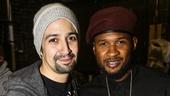 Hamilton - backstage - 10/15 - Lin-Manuel Miranda and Usher