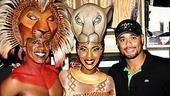 Johan Santana at Lion King - Johan Santana - Dashaun Young - Kissy Simmons