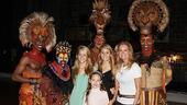 Kathie Lee Gifford and Phil Collins at the Lion King  Kathie Lee Gifford  Family Kids  Dashaun Young  Derek Smith  Nathaniel Stampley