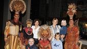Kathie Lee Gifford and Phil Collins at the Lion King  Dana Tyler  Dashaun Young  Derek Smith  Nathaniel Stampley  Tshidi Manye  Phil Collins  Family  Nanny
