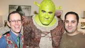 Shrek the Musical Opening Night  Brian dArcy James  Jack Scott  Dave Presto