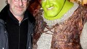 Steven Spielberg and Hugh Jackman Go Green at Shrek the Musical – Steven Spielberg – Brian d'Arcy James