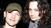 Wilson and Maguire at Rock of Ages  Tobey Maguire  Constantine Maroulis