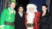 Backstage at Elf with Joe Jonas – Sebastian Arcelus – Joe Jonas – George Wendt - Ashley Greene