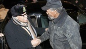 From one Hoke to another: Broadway's current Daisy star James Earl Jones welcomes Morgan Freeman, who originated the role off-Broadway in 1987 and memorably starred in the film version.