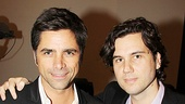 John Stamos and pal Scott Sartiano look like they enjoyed their time at this singalong Beatles extravaganza.