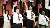 The Book of Mormon stars Nikki M. James, Josh Gad, Andrew Rannells and Maia Nkenge Wilson sing out during show's finale.