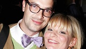 After sparring with onstage husband Stephen Colbert, Martha Plimpton enjoys her evening with boyfriend Edward Todd Owens.