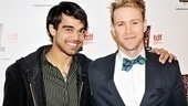 Freckleface Strawberry&#39;s Sanjaya Malakar and How to Succeed&#39;s Christopher J. Hanke paired up to hand out the award for Outstanding Choreography. 
