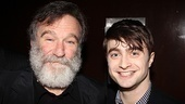 A genie meets a boy wizard as Bengal Tiger's Robin Williams and How to Succeed star Daniel Radcliffe pose for a photo together.