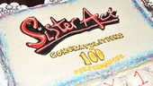 Sister Act 100th performance  Sister Act cake