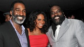 Audra McDonald hops in between the men of her onstage love triangle: Norm Lewis and Phillip Boykin.