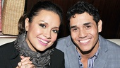 Tony winner Lea Salonga gets cozy with rising star Adam Jacobs (The Lion King) after a sensational night singing Sondheim music. Congrats!