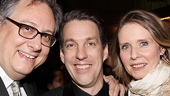 Cynthia Nixon, who is about to star on Broadway in Wit, gets close to longtime pals and Lysistrata Jones creators Douglas Carter Beane and Lewis Flinn.