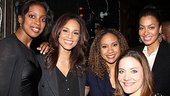After a rewarding evening of work, Alicia Keys and La La Anthony light up a photo with the lovely ladies of Stick Fly, Condola Rashad, Tracie Thoms and Rosie Benton. 