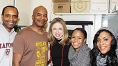 Nathan Stampley, David Alan Grier, Nikki Renee Daniels and Bryonha Marie Parham couldn't be happier to have Chelsea Clinton visit Porgy and Bess