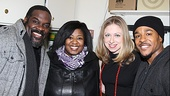 Phillip Boykin, NaTasha Yvette Williams and Trevon Davis are thrilled to welcome Chelsea Clinton to Catfish Row.