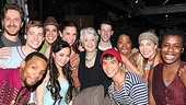 Angela Lansbury Backstage at Godspell  Angela Lansbury - Anna Maria Perez de Tagle - Telly Leung  Nick Blaemire  Celisse Henderson  George Salazar  Lindsay Mendez  Uzo Aduba  Morgan James  Daniel Goldstein  Wallace Smith  Hunter Parish  