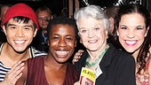 Angela Lansbury Backstage at Godspell  Telly Leung - Angela Lansbury  Uzo Aduba  Lindsay Mendez