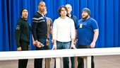 In Rehearsal with Jesus Christ Superstar  Mark Cassius -  Marcus Nance  Jeremy Kushnier - Josh Young  Sandy Winsby - Aaron Walpole 