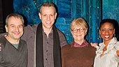 Memphis librettist Joe DiPietro and stars Adam Pascal and Montego Glover welcome Estelle Parsons to the Shubert Theatre.