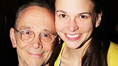 After her final performance, a tearful Foster says farewell to co-star Joel Grey.