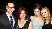 Once opening night  Santino Fontana  Anne L. Nathan  Cristin Milioti  Alison Pill