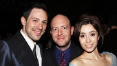 John Tiffany is one happy director, with stars Steve Kazee and Cristin Milioti by his side.