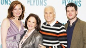 The Lyons family photo! Kate Jennings Grant, Linda Lavin, Dick Latessa and Michael Esper are the talented actors who make up this dysfunctional family. 