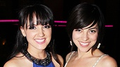The meeting of the Wednesday Addamses: Rachel Potter gets close to Krysta Rodriguez.