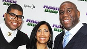 Magic.Bird Opening Night  E.J. Johnson  Cookie Johnson  Magic Johnson