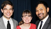 Peter and the Starcatcher Opening Night  Jason Ralph  Betsy Hogg  Orville Mendoza