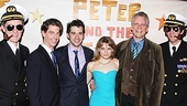 Peter and the Starcatcher Opening Night  Roger Rees  Christian Borle - Adam Chanler-Berat  Celia Keenan Bolger  Rick Elice  Alex Timbers