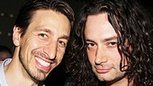 Evita producer Adam Zotovich and Rock of Ages alum Constantine Maroulis are happy to celebrate together.